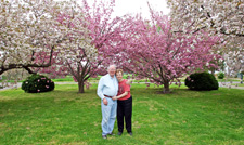 Cherry Blossoms & Nancy and Hullie